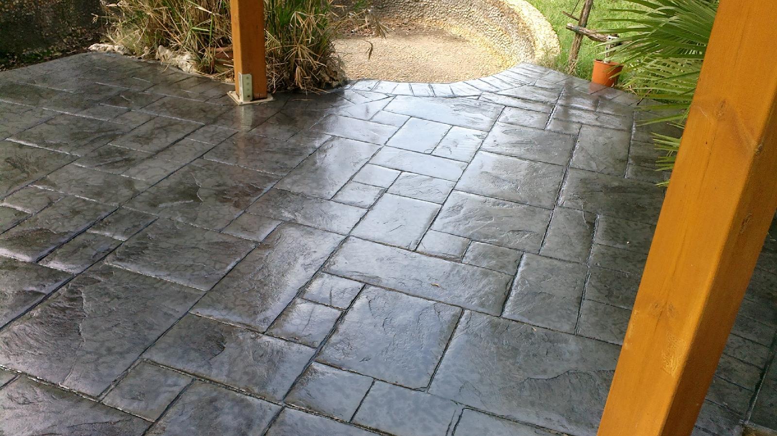 Cemento impreso hormigon impreso xixona precios pavimentos impreso xixona - Suelo de cemento pulido precio ...